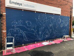 Incredible Edible – New Mural at Garforth