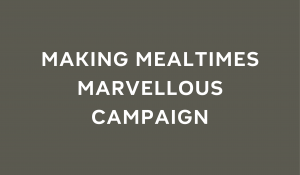 We are supporting residents living with dementia with our 'Making Mealtimes Marvellous' campaign