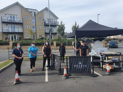 Access Hospitality's new coffee cart visits Mayfield View